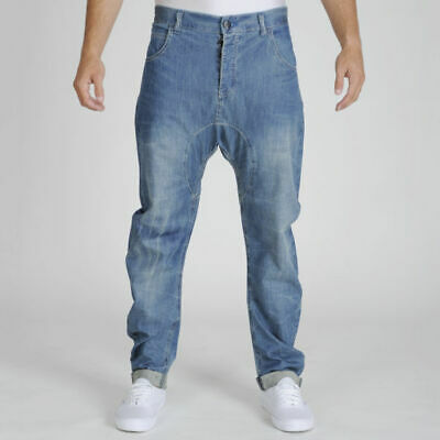 55 Soul Men's Engineer Jeans - Light Wash (30R) Brand New Sealed With Tags • 9.99£