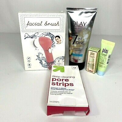 $21.63 • Buy Olay Total Effects Foaming Cleanser Pixi Skintreats Pore Strips Facial Brush Lot