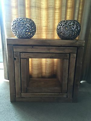 Reclaimed Chunky Solid Pine HANDMADE NEST OF TABLES • 140£