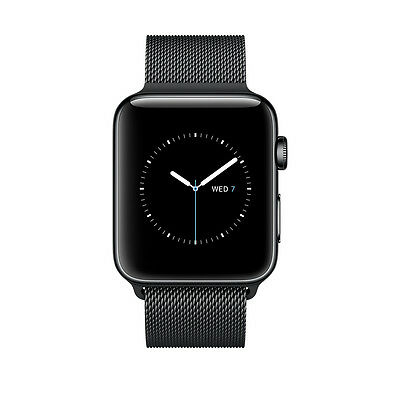 $ CDN329.54 • Buy Apple Watch Series 2 42mm Stainless Steel Case Space Black Milanese Loop