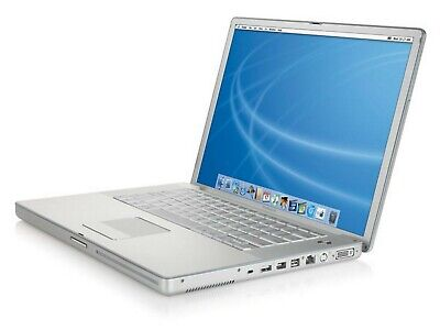 Apple PowerBook G4 15  1.67 GHz A1106 Early 2005 In Silver M9677LL/A • 119.99£