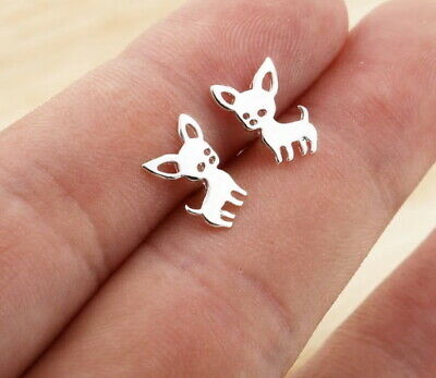 £3.50 • Buy Chihuahua Dog - Stud Earrings - Hypoallergenic 316L Steel - GIFT BOXED