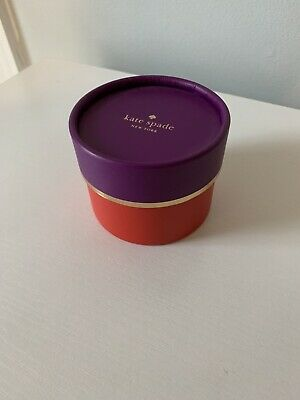 $ CDN6.31 • Buy Kate Spade Jewelry Round Gift Box Empty Purple Red