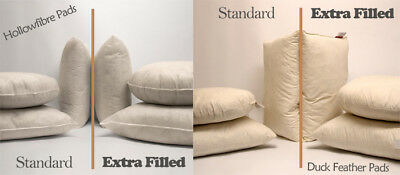 Max Plump Hollowfibre / Duck Feather Cushion Pad Inner Filler Scatters All Sizes • 11.99£