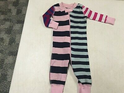 $15.30 • Buy Hanna Andersson 100% Organic Fun Stripe    Union Suit Pajamas   85    2t   2