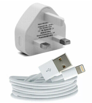100% Genuine CE Charger Plug & USB Sync Cable For Apple IPhone X 8 7 6 Plus IPad • 3.99£