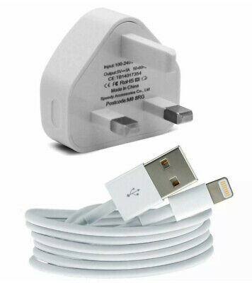 100% Genuine CE Charger Plug & USB Sync Cable For Apple IPhone X 8 7 6 Plus IPad • 5.99£