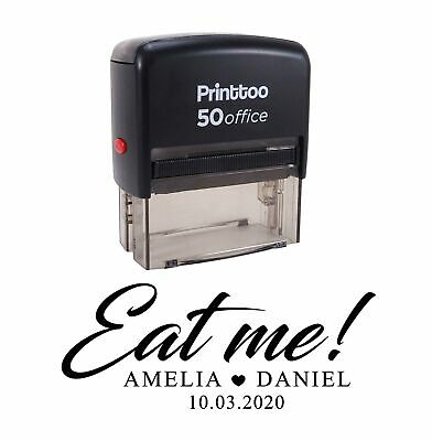 £13.99 • Buy Printtoo Personalized Black Self Inking Eat Me Stamp Custom Wedding FavorPHS601A