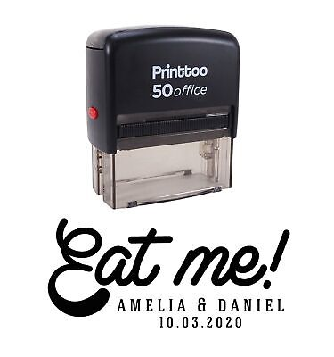 £13.99 • Buy Printtoo Personalized Black Self Inking Eat Me Wedding Favor Stamp CustomPHS598A