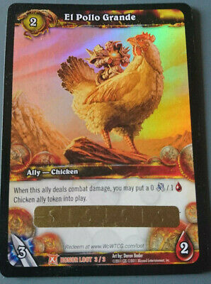 WoW Loot Card - El Pollo Grande / The Big Chicken / Das Große Huhn • 2,701.21£