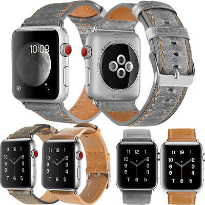 $ CDN14.55 • Buy Formal Genuine Leather Band For Apple Watch Series 5/4/3/2/1 38mm 40mm 42mm 44mm