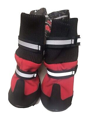 Dog Snow Boots Size M Red Set Of 4 Boots • 10£