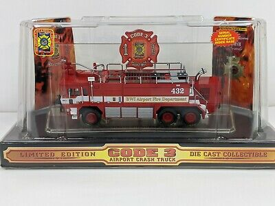 $54.99 • Buy Vintage 2000 Code 3 Oshkosh Bwi Airport Crash Truck Limited Edition *new*