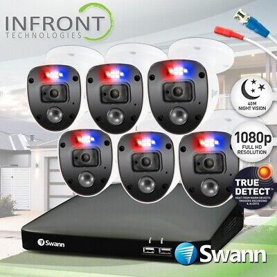 AU695 • Buy Swann Enforcer 6 Camera 8 Channel 1080p Full HD DVR Security System