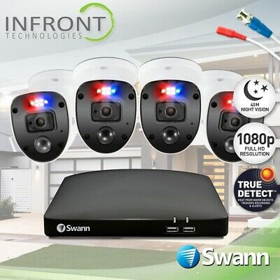 AU559 • Buy Swann Enforcer 4 Camera 8 Channel 1080p Full HD DVR Security System