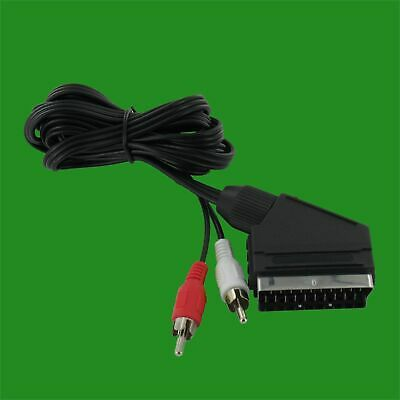 SCART To 2x RCA Phono Red And White Cable Lead Audio & Visual 5 Meter  • 4.95£