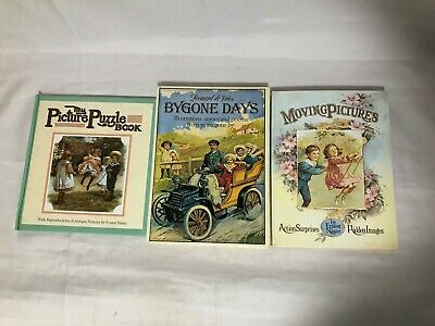 £9.99 • Buy 3x Bygone Days Victorian Children Books Moving Pictures Picture Puzzle