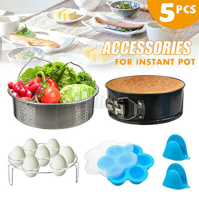 $25.97 • Buy 5Pcs Pots Accessories Set Steamer Basket Springform Pan Egg Bites Mold