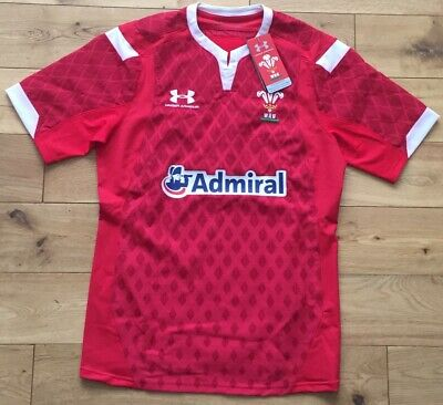 Under Armour Men's 2019/20 Wales Rugby Seven's And Pathway Jersey New Size L • 39.99£
