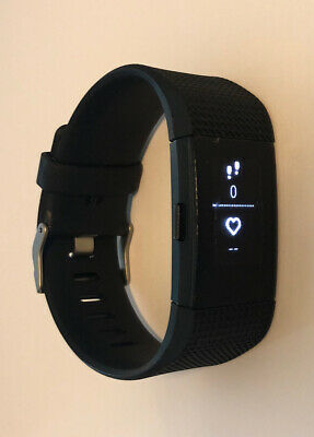$ CDN45.40 • Buy Fitbit Charge 2 HR Fitness Wristband Black Tracker W/ New Small Black Band