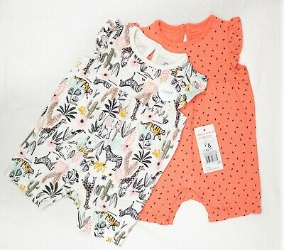 !! Ex F&f !! Bnwt Baby Girl Set Of 2 Outfits Babygrow All Sizes Free Postage • 7.99£