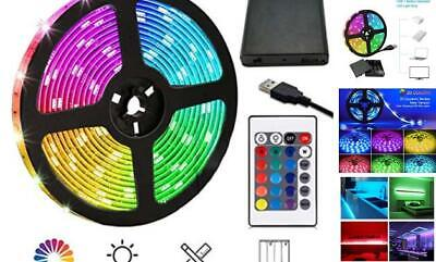$18.13 • Buy Waterproof 6.5FT/2M 60 LED RGB Strip Rope Lights Battery Powered Remote Control