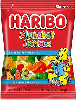 £5.50 • Buy Haribo Alphabet Letters Gummi Candy 142g - American Candy & Sweets Import