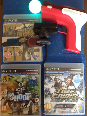 (PS3)(Time Crisis) 4 Razing Dead Pirates Storm Game &ps3  PS3 Move & Gun  Camera • 99.99£