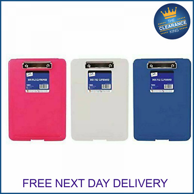 A4 Plastic Compact Clipboard Paper Storage Box File For Office & School - 6061 • 4.99£