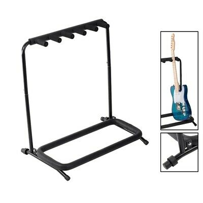 $ CDN104.15 • Buy Guitar Stand For 5 Acoustic Electric Bass Guitars Foldable Padded Durable Steel