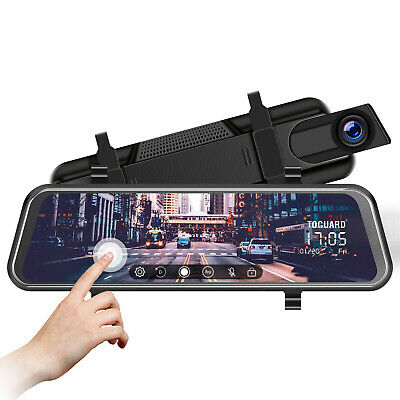 AU90.78 • Buy TOGUARD 10  Touch Screen Rear View Mirror Car Dash Cam Reversing Recorder Camera