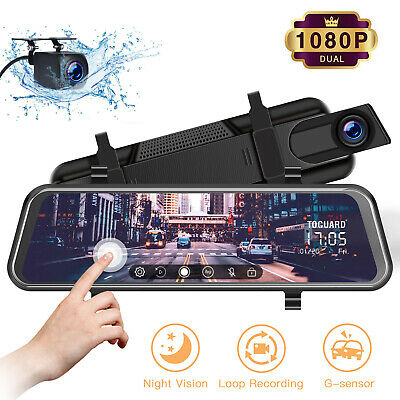 AU99.99 • Buy TOGUARD 10  Touch Screen Rear View Mirror Car Dash Cam Reversing Recorder Camera