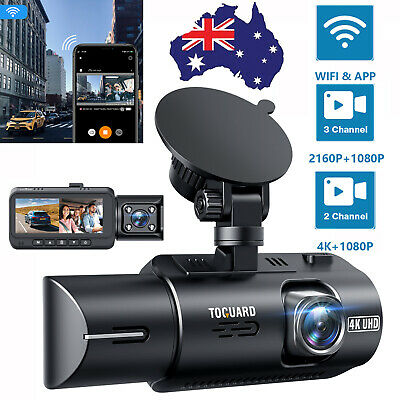 AU159.59 • Buy WIFI Dual Dash Cam 4K Front And 1080P Inside Cabin GPS,Driving Recorder G-Sensor