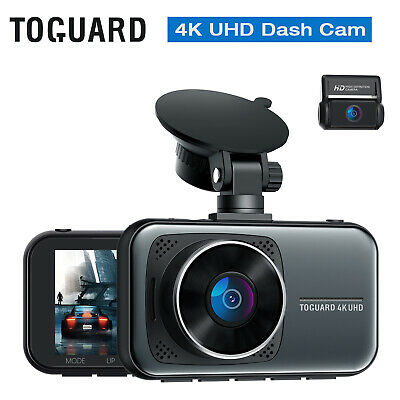 AU135.17 • Buy 4K Dual Dash Cam UHD 2160P+1080P Front And Rear Dash Camera  Super Night Vision