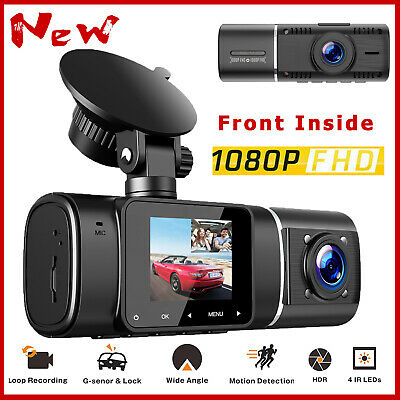 AU78.96 • Buy TOGUARD Uber Dual Len Dash Cam IR Night Vision Full HD 1080P Car Recorder Camera