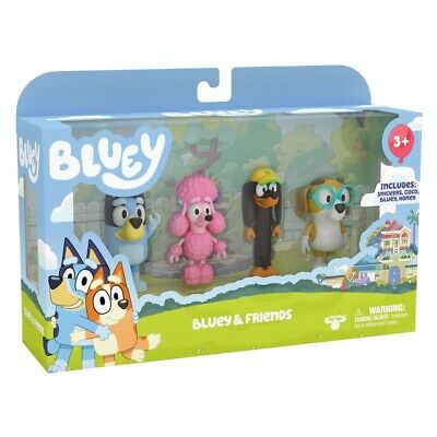 AU34.90 • Buy  Bluey And Friends 4 Pack SEASON 2 MINI FIGURES : BLUEY COCO  SNICKERS HONEY