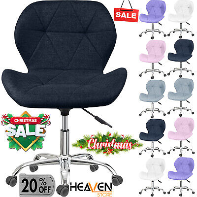 £38.85 • Buy Cushioned Computer PC Desk Office 360° Swivel Chair Chrome Legs Adjustable Lift