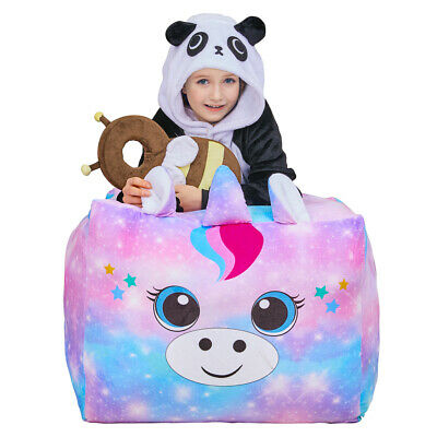 24 Inch Unicorn Stuffed Animals Toy Storage Bean Bag Chair Cover Soft For Kids • 15.81£