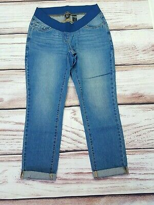 Next Maternity Slim Slouch Turn Up Jeans Under Bump Size 12 R • 14.99£