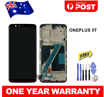 AU105.90 • Buy For ONEPLUS One Plus 5T LCD Touch Screen Digitizer Replacement With FRAME BLACK