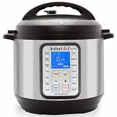 $89.99 • Buy Instant Pot Duo Plus 9-in-1 Electric Pressure Cooker, Sterilizer, Slow Cooker, R
