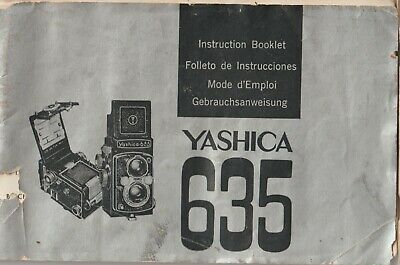 AU49 • Buy Vintage Yashica 635 Camera Manual Instructions Booklet Guide - FREE POST