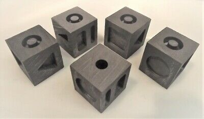 7-in-1 Graphite Moulds: 7 Different Gold/silver Ingots Cube: Traditional Style • 29£