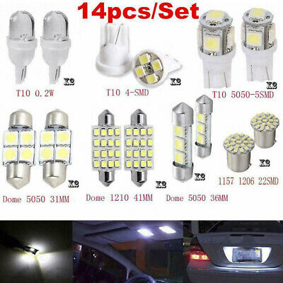 $4.38 • Buy 14x Car Interior Package Map Dome License Plate Mixed LED Light Accessories Kits