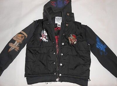 Ed Hardy Kids Boys Size Xl Hoodie Warm Jacket • 39.99£