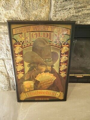 $ CDN229.29 • Buy Vintage Budweiser King Of Beers St.Louis Wood Lacquer Bar Sign RARE
