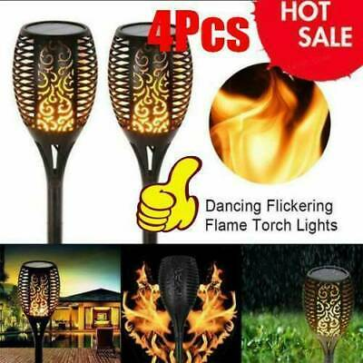 4 Packs Solar Torch Dance Flickering Flame Light Garden Waterproof Lamp Outdoor  • 8.89£