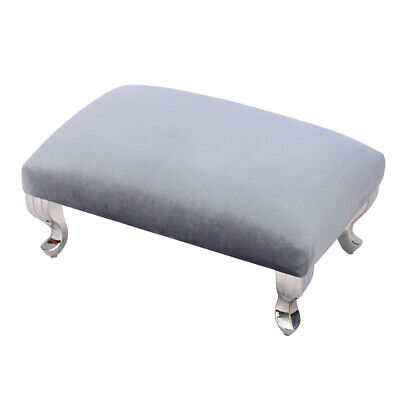 £25.95 • Buy Large Footstool Sofa Foot Rest Pouffe Stool With Silver Chrome Queen Anne Legs