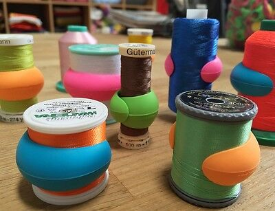 $9.99 • Buy Lot Of 48 Embroidery/Sewing Machine Thread Spools Huggers/Peels Mess Free Thread