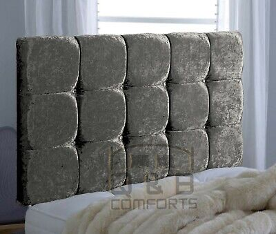 Diamond Headboard In Crushed Velvet 20  3ft 4ft 4ft6 5ft  • 40.49£